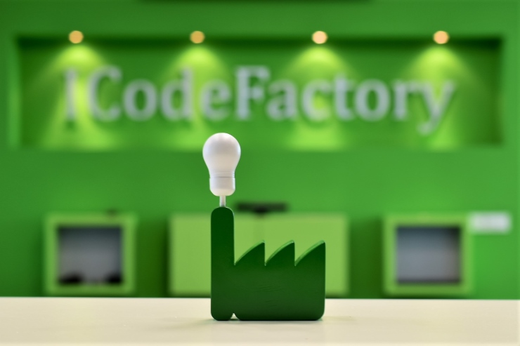 innovations; 3D printer; ICodeFactory logo